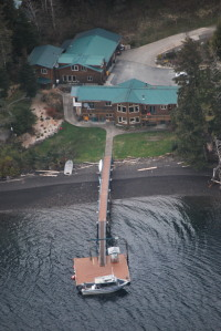 Ariel view of Kingfisher Lodge