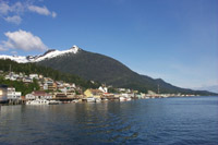Deer Mountain on a sunny day in Ketchikan, Alaska.