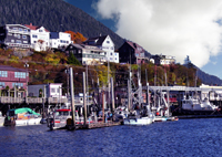 Ketchikan's colorful waterfront.