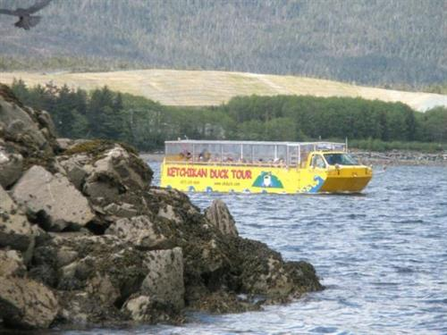 Ketchikan Duck Tour ''Miss Jillian'' in the water!