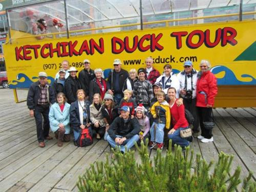 The Duck Tour is perfect for large groups!