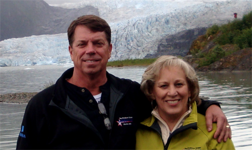 Jim and Candi enjoying Alaska