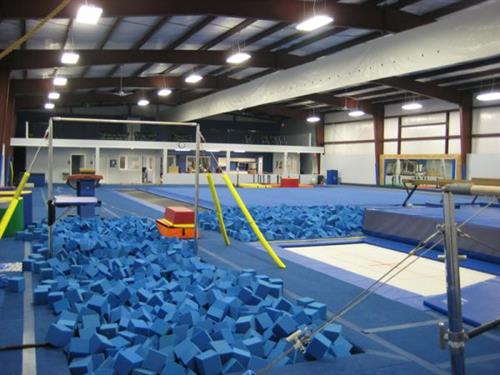 We have two large foam pits.