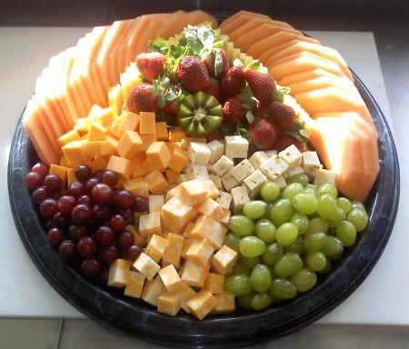 Lrg. Fruit and Cheese Tray