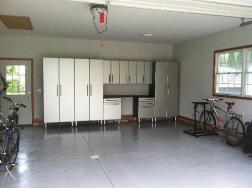 Silver & Grey Garage Cabinets