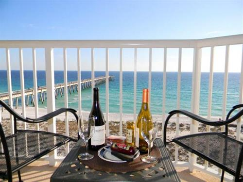 Splendid view of the Gulf of Mexico from a balcony at Summerwind Resort.