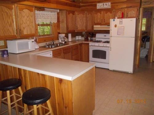 Each cabin has a fully equiped kitchen, just like your kitchen at home