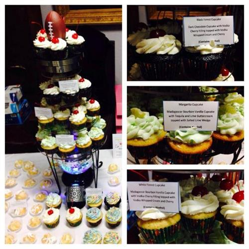 Elk's Club Superbowl Cupcake Display
