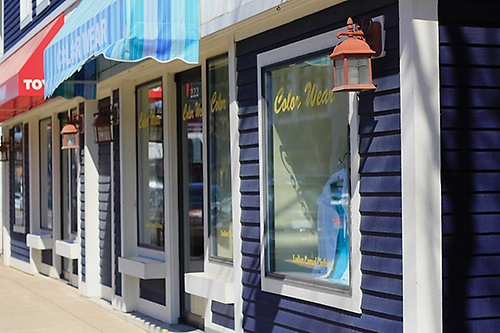 Color Wear in beautiful downtown Charlevoix.