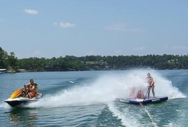 Boat, jet ski, swim, jump off the rocks
