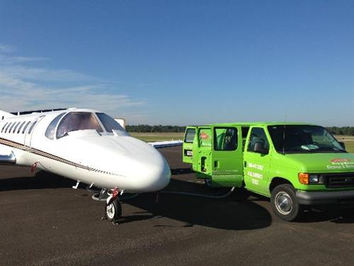 We clean for the Flagler County airport