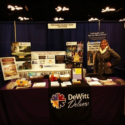 DeWitt Delivers booth at KWQC Woman's Fair