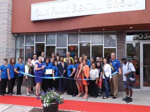 Ribbon Cutting at Oak Park Dental