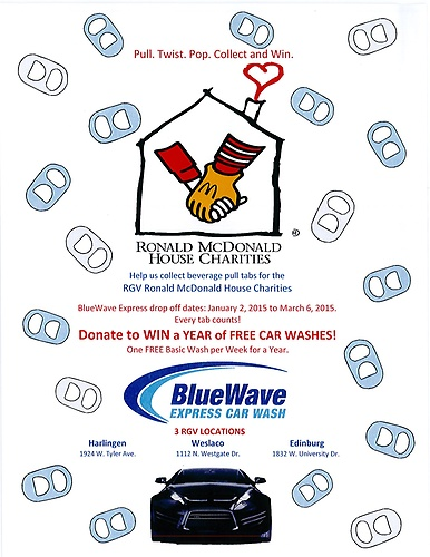 DONATE to WIN a Year of FREE Car Washes Brought to you by BlueWave Express Car Wash!