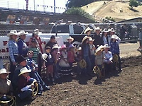 Group photo from our Special Partners Rodeo