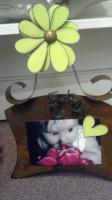 Fun magnetic Flower Frames.  Also good for recipe cards & notes.