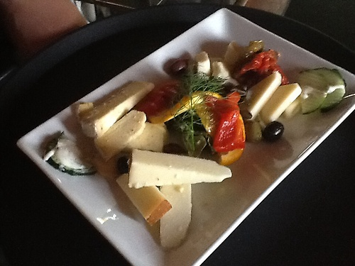 Assorted cheese plate