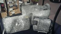 Aluminum tab purses.  An elegant evening or just jeans...perfect!