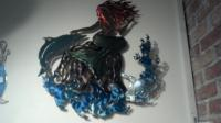 Powder coated steel mermaid - use indoors or outside!