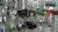 Some of our spectacular glass ornaments & suncatchers.