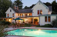 Poolside View of Inn at Dusk