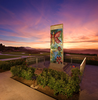 Authentic piece of the Berlin Wall, on display at the Reagan Library