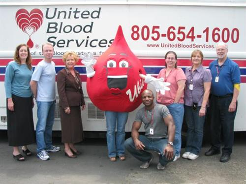 United Blood Services staff with UBIE