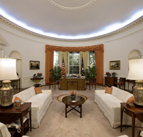 Full Size Oval Office Replica at the Reagan Library