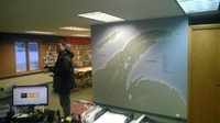 Keweenaw Peninsula map on the Chamber Office wall
