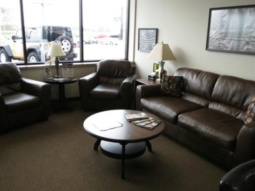 We feature a comfortable lounge where you can wait while you are getting your oil changed or service work done!