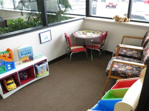 Children's play area attached to our comfortable waiting area.