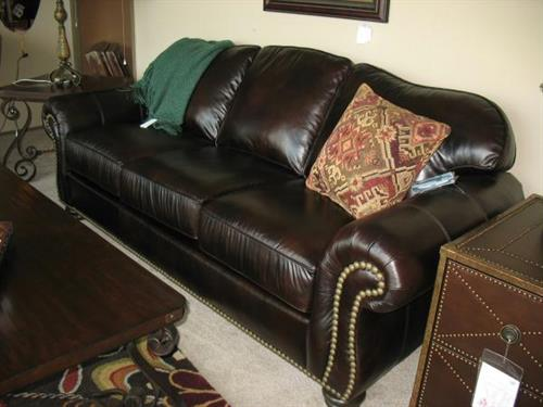 Flexsteel Bexley Sofa in brown leather