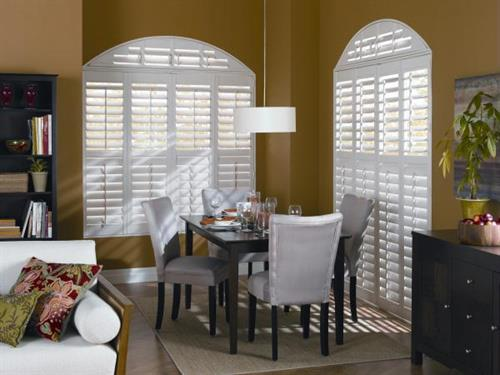 Add elegance and sophistication to any room with wood shutters by choosing from a wide array of finishes,colors and hardware to coordinate with every rom in your home. Shutters are best for overall privacy, durability and energy efficiency