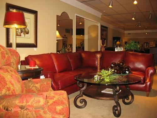 Envision Red Leather Sectional