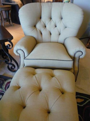 Lexington Chair and Ottoman