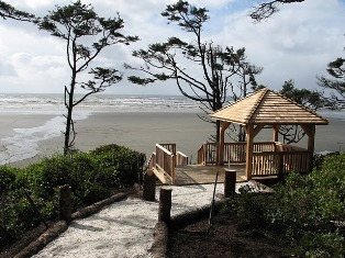 Seabrook's Gazebo and trail to the beach