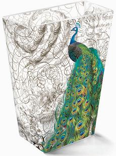 Fringe Peacock Vase