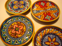 Ceramics from Venice, Tuscany, Amalfi, Sicily. These coasters Deruta $45 each