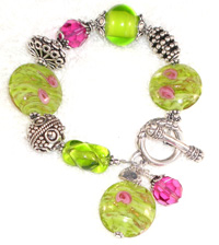 Itailan and US made Jewelry. Murano glass bracelet $68