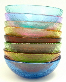 Fire and Light Recycled Glass Bowls