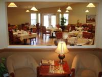 Enjoy a nutricious meal in our open and bright dinning area.