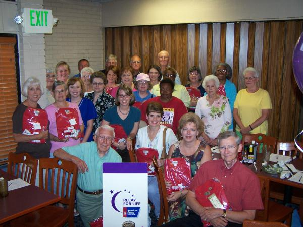 Relay For Life Wrap up celebration.