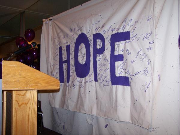 HOPE, what all American Cancer Society volunteers believe in.