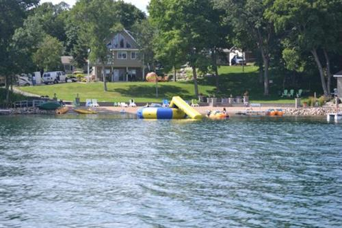 Enjoy the beautiful, sandy beach on East Silent Lake.