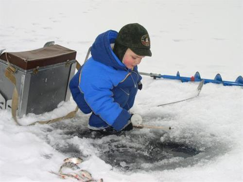 Ice fishing for all ages!