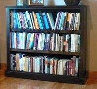 Chocolate Brown Stain on Maple Bookcase