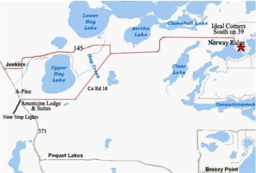 Map to get to Norway Ridge