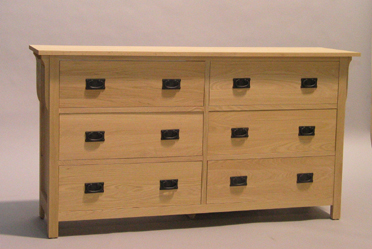 Unfinished Oak 6 deep drawer dresser 30206-D