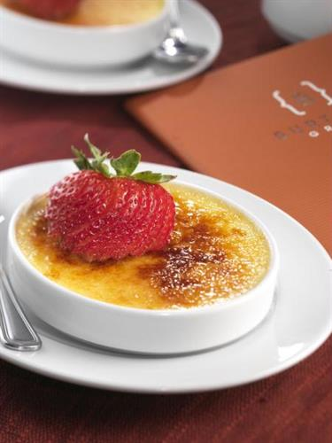 Classic creme brulee infused with bourbon vanilla beans