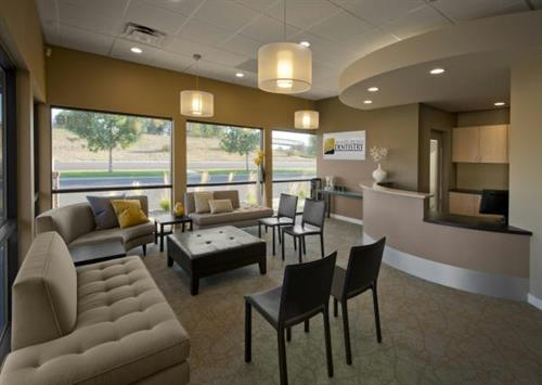 Reception Area of Granite Springs Dentistry (Michael Peck Photography)